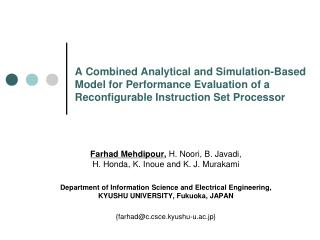 A Combined Analytical and Simulation-Based Model for Performance Evaluation of a Reconfigurable Instruction Set  Proces
