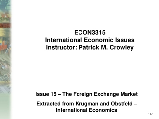 chapter 6 the foreign exchange market