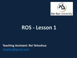 ROS -  Lesson 1