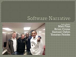 Software Narrative
