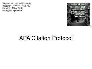 apa citation protocol
