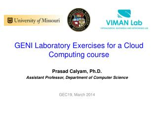GENI Laboratory Exercises for a Cloud Computing course