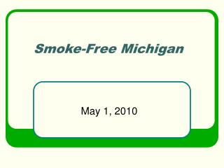 smoke-free michigan