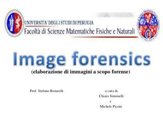 Prof. Stefano  Bistarelli                                               a cura di: