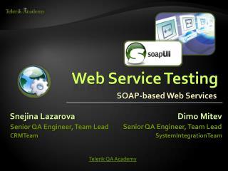 Web Service Testing