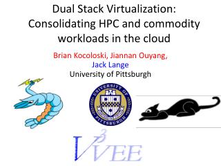 Dual Stack Virtualization: Consolidating HPC and commodity workloads in the cloud