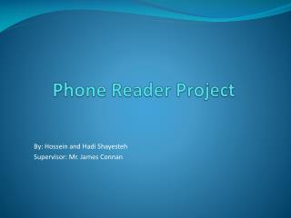 Phone Reader Project