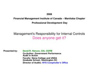 2008 financial management institute of canada   manitoba chapter  professional development day