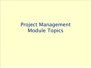 project management module topics