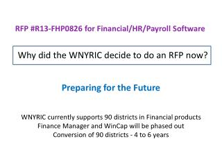 RFP #R13-FHP0826 for Financial/HR/Payroll Software