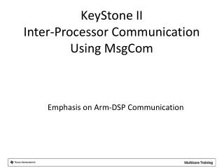 Emphasis on Arm-DSP Communication