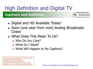 high definition and digital tv