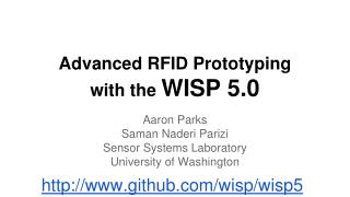 Advanced RFID Prototyping  with the  WISP 5.0