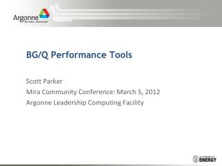 BG/Q Performance Tools