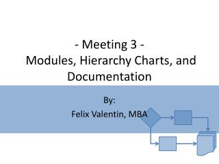 - Meeting  3  -  Modules, Hierarchy Charts, and Documentation