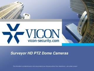 Surveyor HD PTZ Dome Cameras