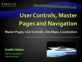 User Controls, Master Pages and Navigation