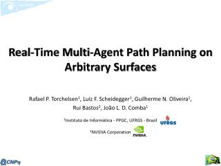 Real-Time Multi-Agent Path Planning on Arbitrary Surfaces