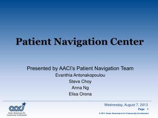 Patient Navigation Center