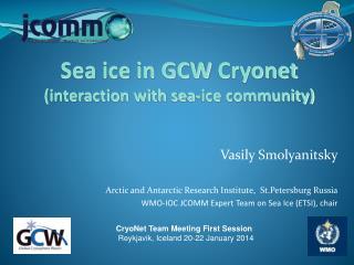 Vasily Smolyanitsky Arctic and Antarctic Research Institute,   St.Petersburg  Russia WMO-IOC  JCOMM Expert Team on Sea
