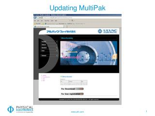 Updating  MultiPak
