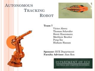Autonomous  Tracking      Robot