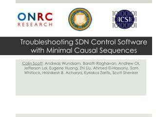 Troubleshooting SDN Control  S oftware with Minimal Causal Sequences