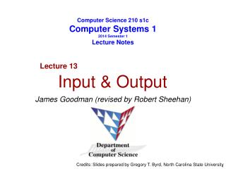 Computer Science 210 s1c Computer Systems 1 2014 Semester 1 Lecture Notes