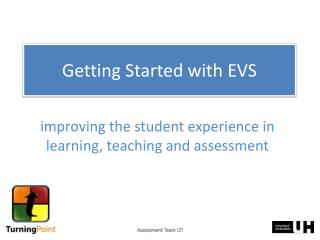 Getting Started with EVS