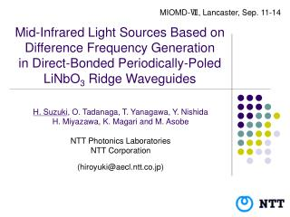 Mid-Infrared Light Sources Based on Difference Frequency ...