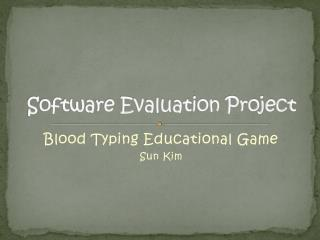 Software Evaluation Project