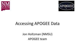 Accessing APOGEE Data
