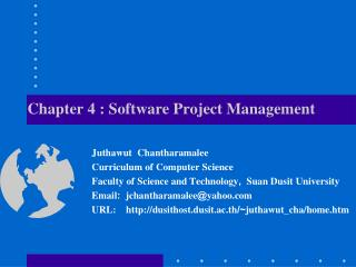 Chapter 4 :  Software  Project Management