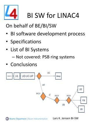 BI SW for LINAC4