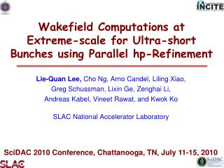 Wakefield Computations at  Extreme-scale for Ultra-short Bunches using Parallel hp-Refinement