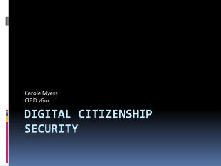 Digital Citizenship Security