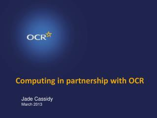 Computing in partnership with OCR