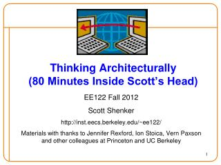 Thinking Architecturally (80  Minutes Inside Scott's Head)