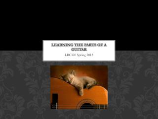 Learning the PARTS OF A GUITAR
