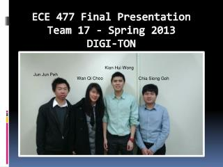 ECE 477 Final Presentation Team 17 - Spring 2013 DIGI-TON