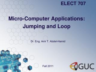 Micro-Computer Applications: Jumping and Loop