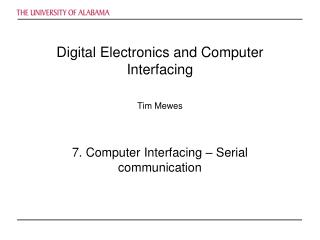 Digital Electronics and Computer Interfacing