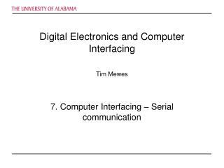 Digital Electronics and Computer Interfacing