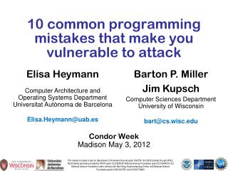10 common programming mistakes that make you vulnerable to attack
