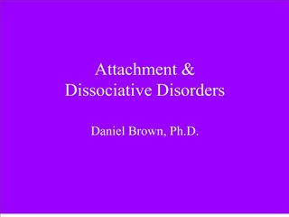 attachment   dissociative disorders