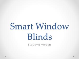 Smart Window Blinds