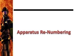 Apparatus Re-Numbering