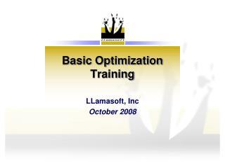 Basic Optimization Training