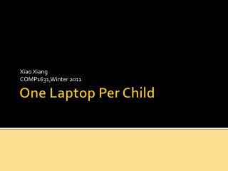 One Laptop Per Child