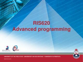 RIS620 Advanced programming